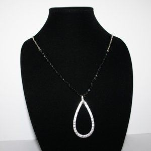 Beautiful silver and beaded drop necklace adjust